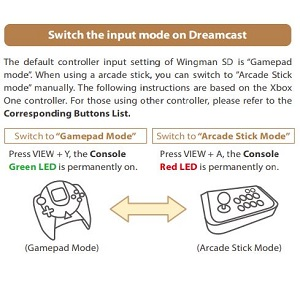 Switch the input mode on Dreamcast