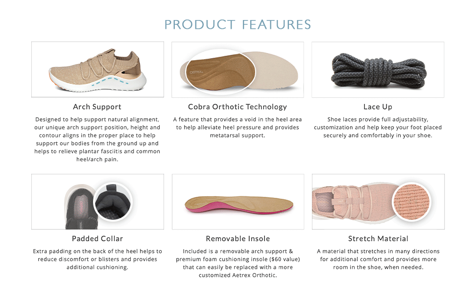 Dani Arch Support Product Features