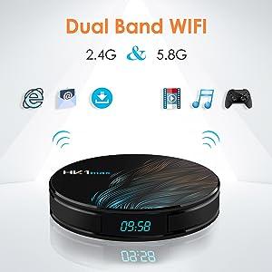 android set top box, 3d tv box, H.265 decording tv box, dual wifi tv box, 2.4G/5G wifi tv box