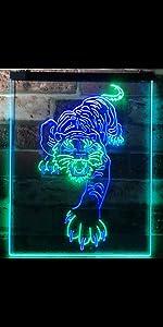 ADVPRO line-art LED neon sign light artwork man cave home decor-ation wildlife lion forest animal