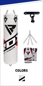 Punching Bag UNFILLED Set Muay Thai Training Gloves with Punch Mitts