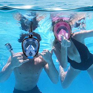 Anti-leak snorkel mask full face