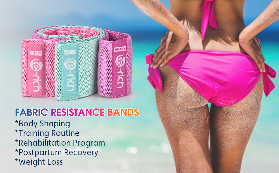 Te-Rich Fabric Resistance Bands