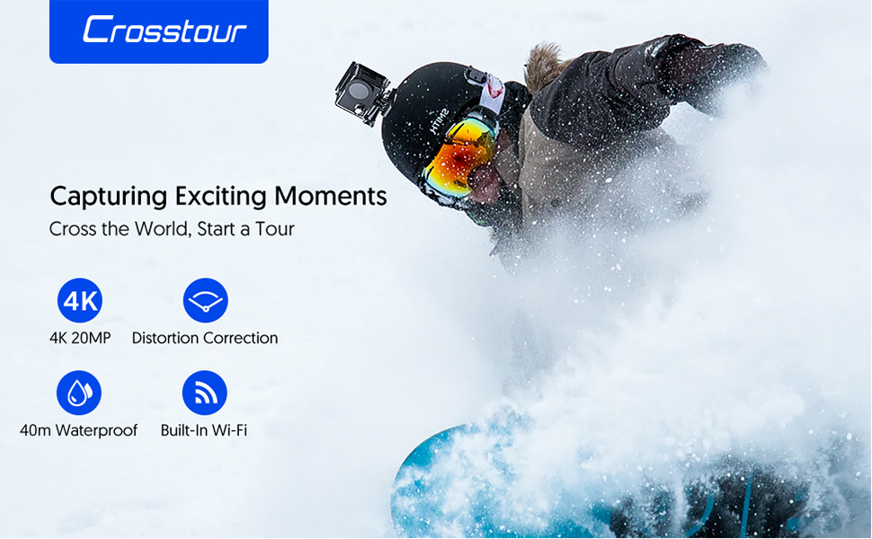 Action Camera for Skiing, best choice for Thanksgiving, Christmas gift on black Friday