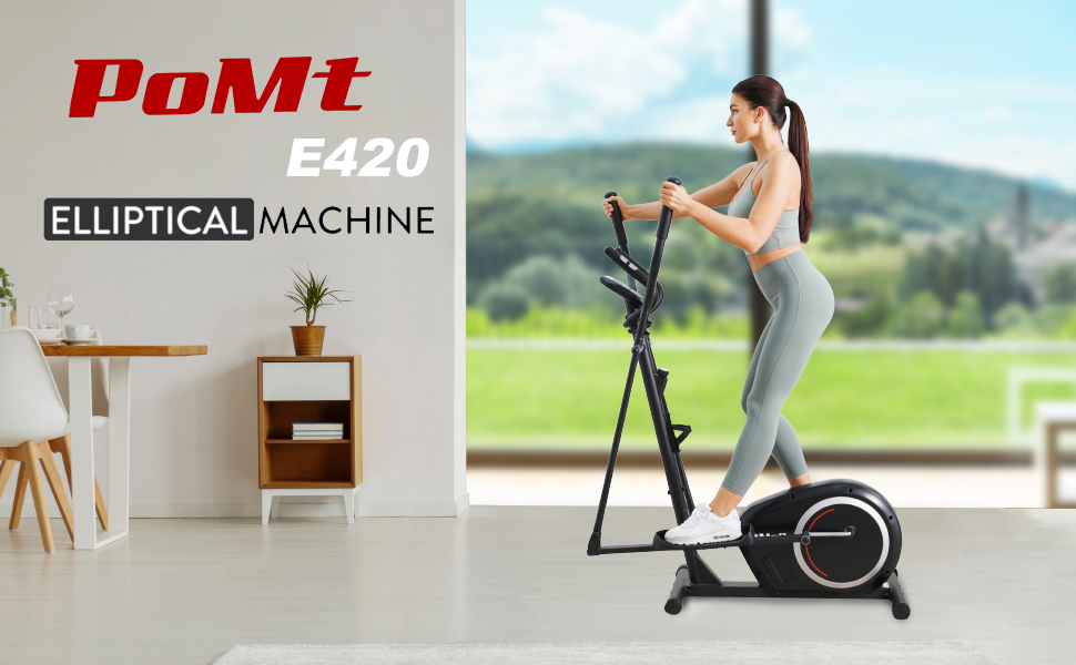 Cardio Machine Elliptical Machine E420-BK