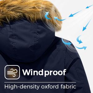 windproof mens puffer