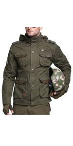 Men's Classic M65 Tactical Military Jacket Outdoor Multi-Pockets Windbreaker