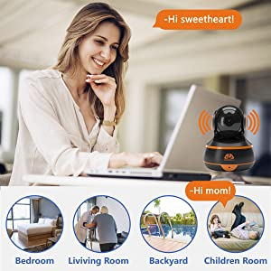 Camera for bedroom living Room Backyard Children Room 2-WAY MICROPHONE Communicate family friends