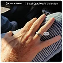 dark silver bevel comfort fit silicone ring