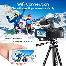 Camcorder Video Vlogging HD Camera HAOHUNT 36MP 1080P Digital Recorder
