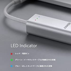Anker USB-C & イーサネットアダプタ USB Type-C機器対応 MacBook/MacBook Air ChromeBook Pixel