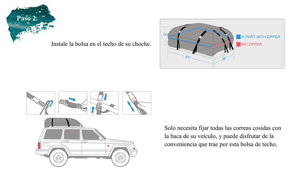 LUVODI Cofre Techo de Coche, Portaequipajes Universal Techo Plegable de PVC, Cofre Techo de Coche Impermeable para Transporte Viajes 425 L