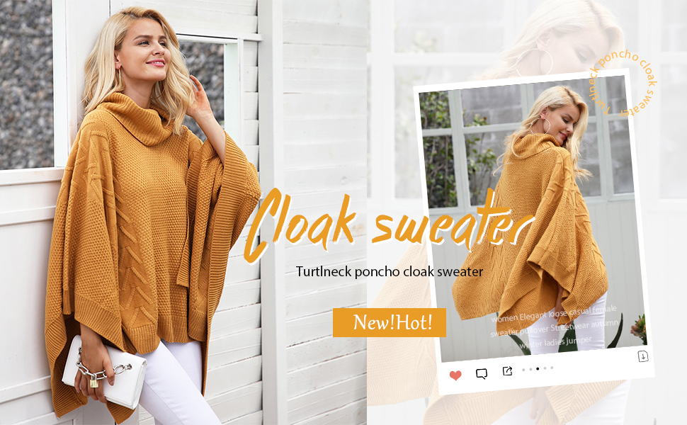 Poncho Pullovers Sweater