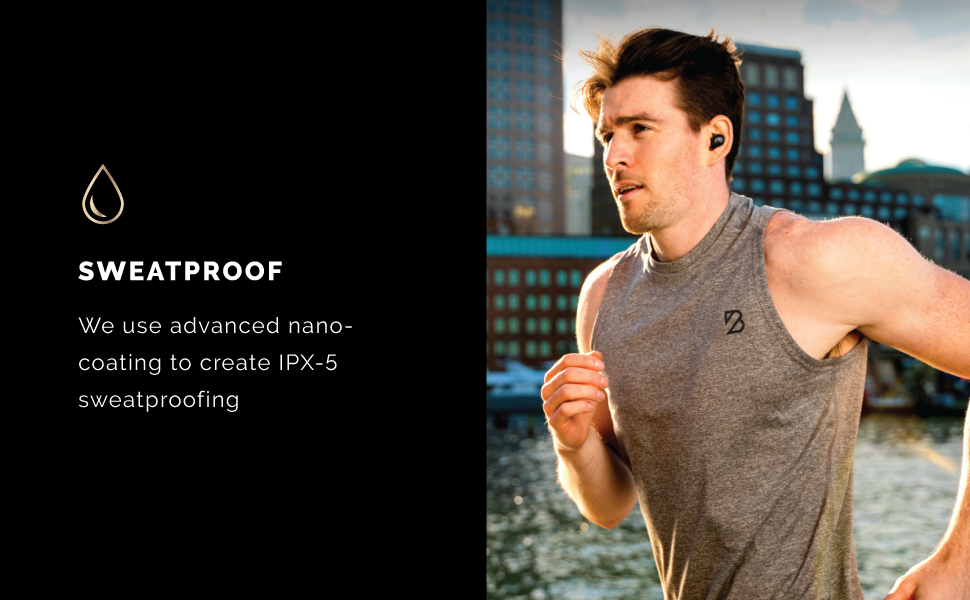 Sweatproof running run runner workout work out sweat proof water proof ipx7 ipx 5 fitness cycling
