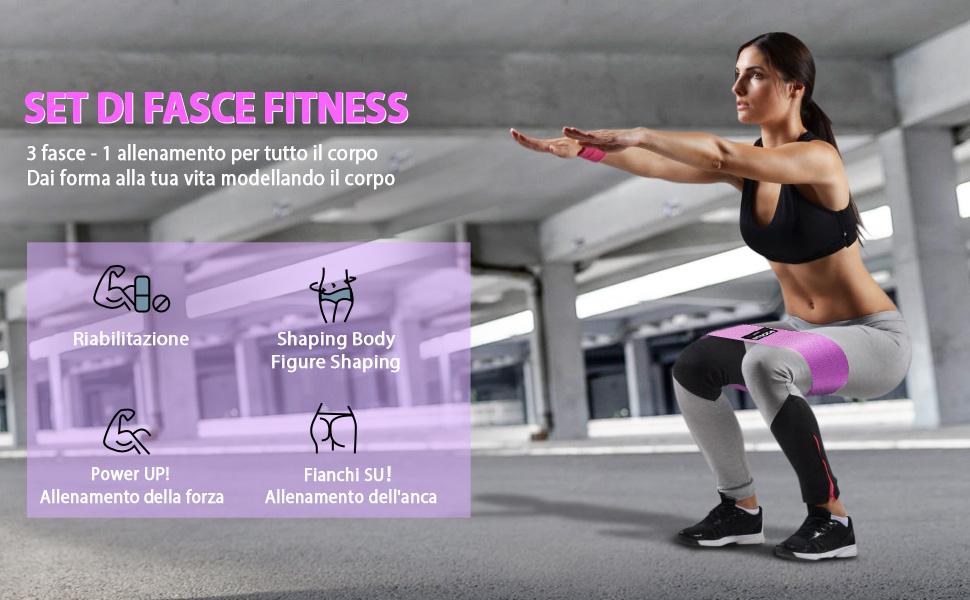 Bandas Elasticas Musculacion Fitness Gomas, SGODDE Bandas Elasticas Gluteos con 3 Nivel, Bandas de Resistencia, Antideslizantes Cintas Elasticas ...
