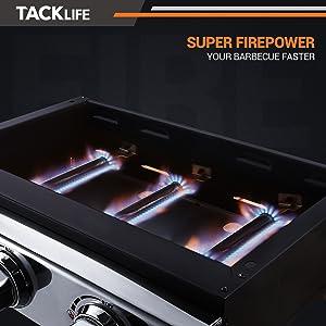 3 burners