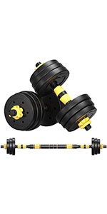 22,44,66,88 lbs Free Weights Dumbbells with Connecting Rod