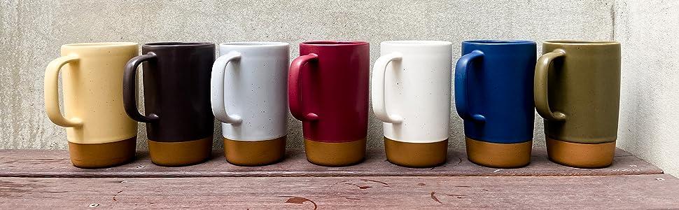 Large Ceramic tea mug in the color cotton white, perfect for a minimalist design
