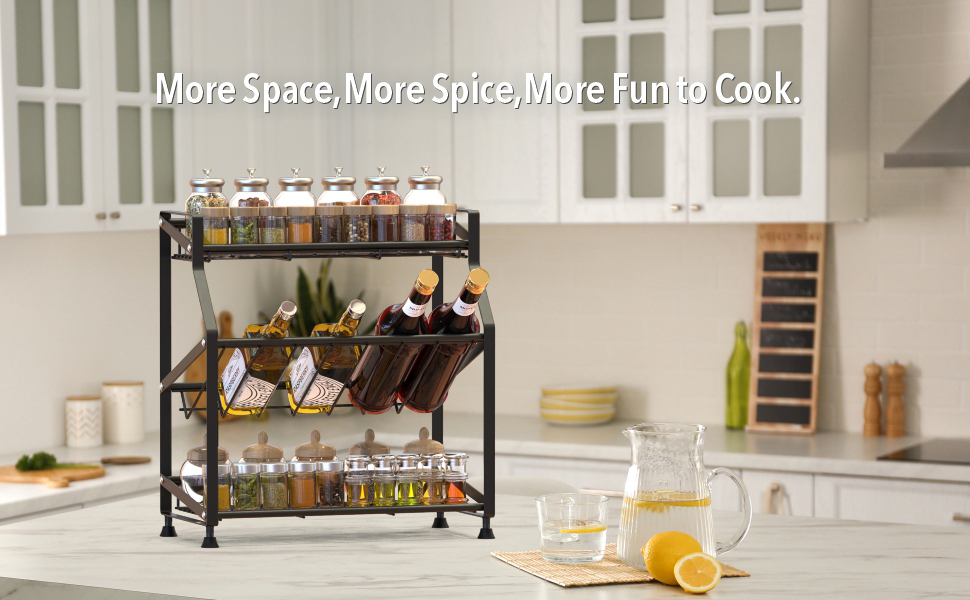 countertop spice rack organizer