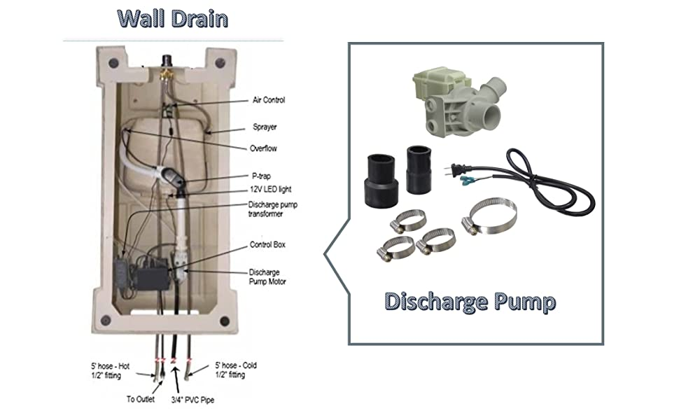 MAYAKOBA Pedicure Chair Build-in Discharge Pump for Wall Drain System