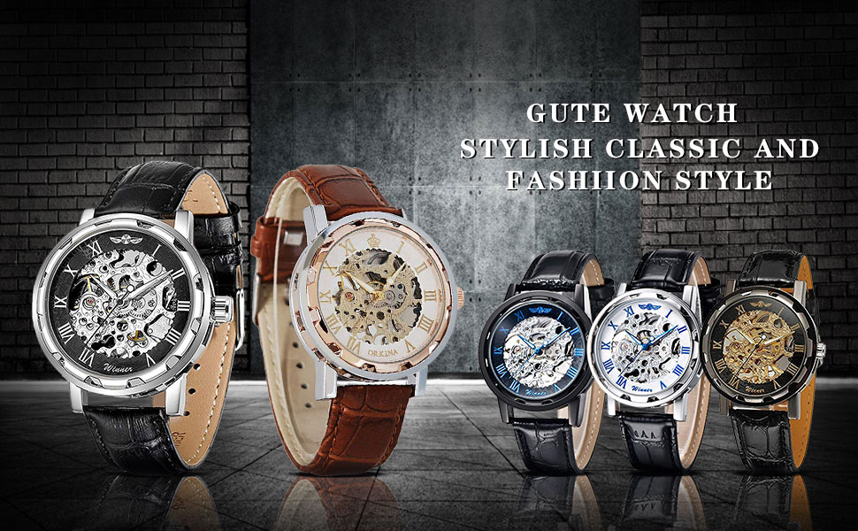 Unisex Skeleton Watch