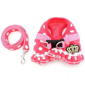 cat harness red