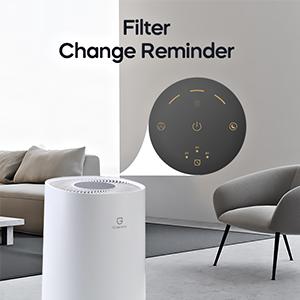 filter change reminder, indicator light, replacement filter