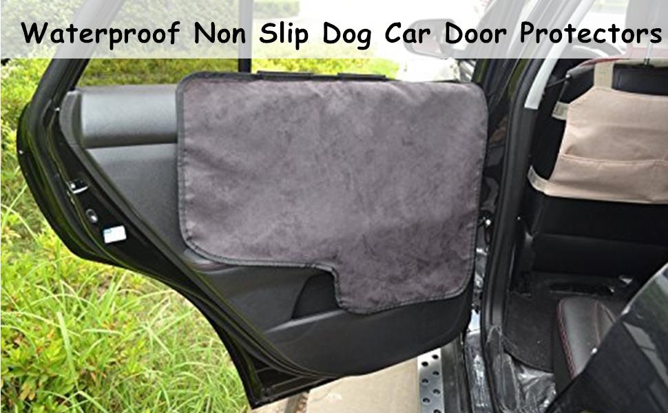 Pettom Waterproof Hund Auto Tür Abdeckung Dornmaß Schutz Schutz Fit Alle Fahrzeuge Set Von 2 Schwarz Haustier