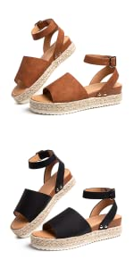 LADIES BLACK BROWN SANDALS