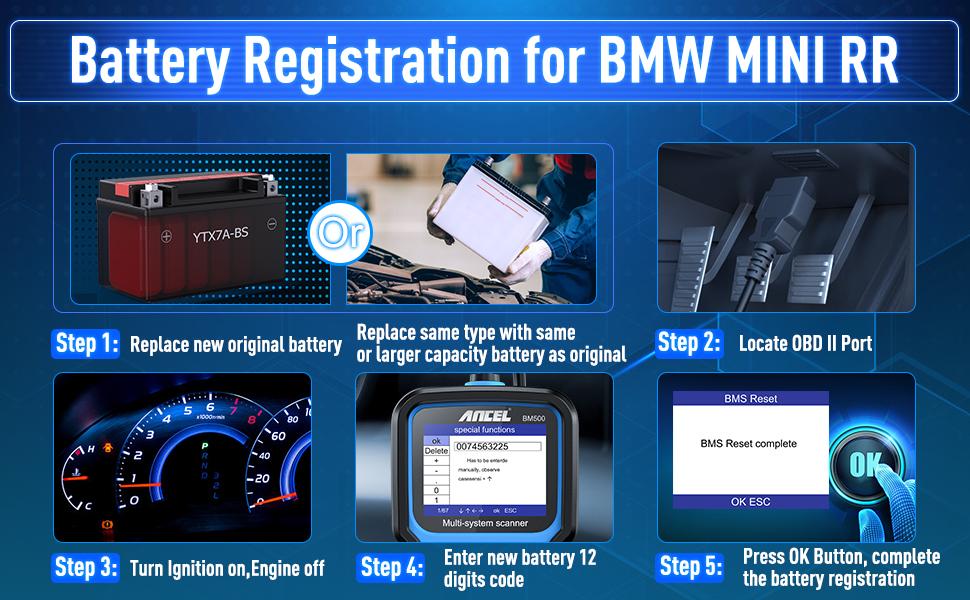 BMW Battery registration