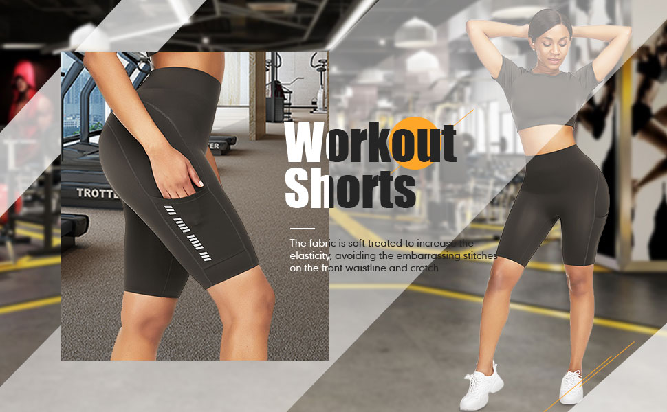 workout shorts high waisted tummy control yoga pants