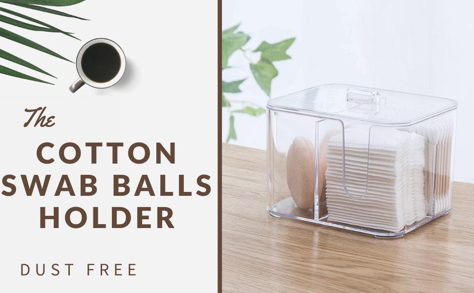 cotton pads holder cotton swab balls box qtips dispenser