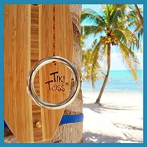 Tiki Toss on the beach