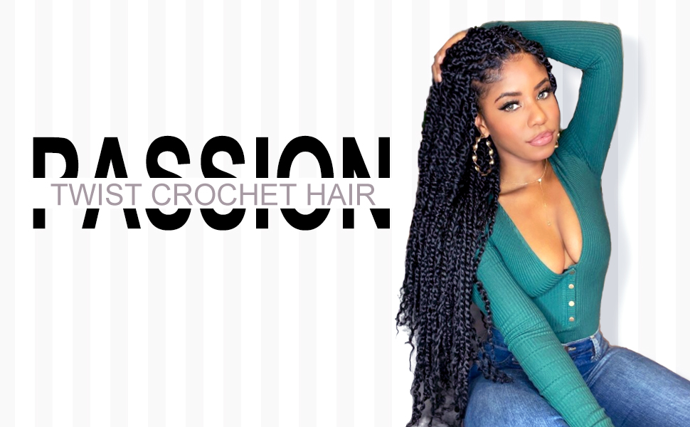 passion twist crochet hair pre looped