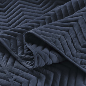 Chevron Quilt Navy Blue