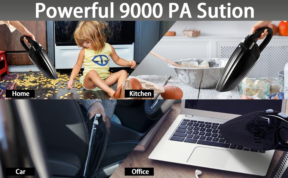 120W 9000pa Suction