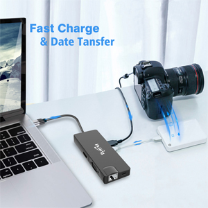 USB C Hub, 9-in-1 USB C Adapter with 4K USB C to HDMI