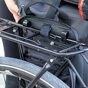 Fahrradtasche Gepäckträgertasche für Fahrrad Rucksack Khalisia klein Damen Rucksack Wasserdicht