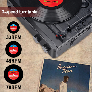 3 speed record player