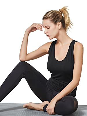 BALEAF Tank Tops Yoga Running Activewear Open Back Workout Loose Fit Soft Shirts for Women