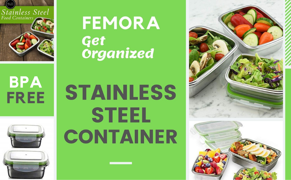 steel container container set for kitchen storage container