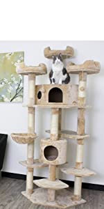 CozyCatFurniture Extra Large Climbing Cat Tree Furniture for Active Cats