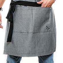 mandil delantal mezclilla gabardina para chef restaurantes cocinero parrillero meseros carne asada