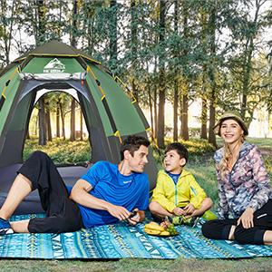 refugio solar para playa Tienda de campa/ña autom/ática para la playa port/átil HEWOLF camping senderismo con protecci/ón UV
