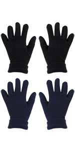 el/ásticos Cooraby 2 pares de guantes m/ágicos gruesos para ni/ños de invierno para dedos completos