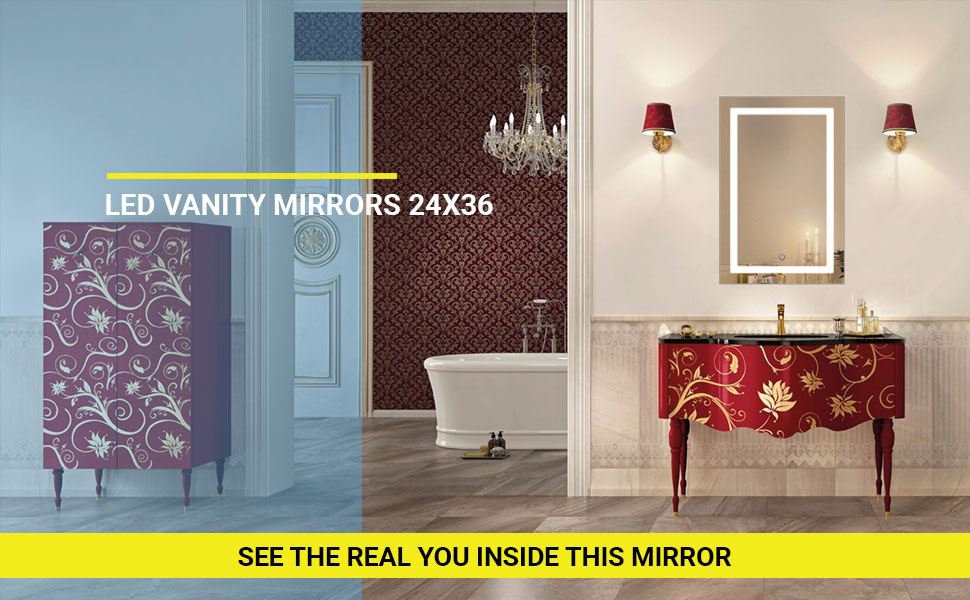 round led mirror, vanity with mirror and lights, lighted vanity, makeup mirror with led light