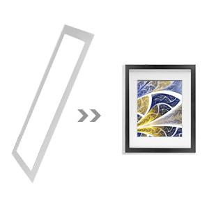 Cadre photo noir Lot de 6 8x10 5x7 ou 4x6 Wall Art Home Decor Peinture