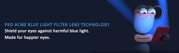 , Pro Acme Blue Light Blocking Glasses for Women Men Fashion Clear Computer Glasses Anti Digital Eyestrain Tint UV Protection, Luxoney