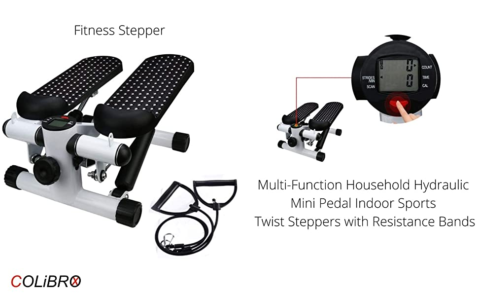 Fitness Stepper, Multi-Function Household Hydraulic Mini Pedal Indoor Sports Twist Steppers