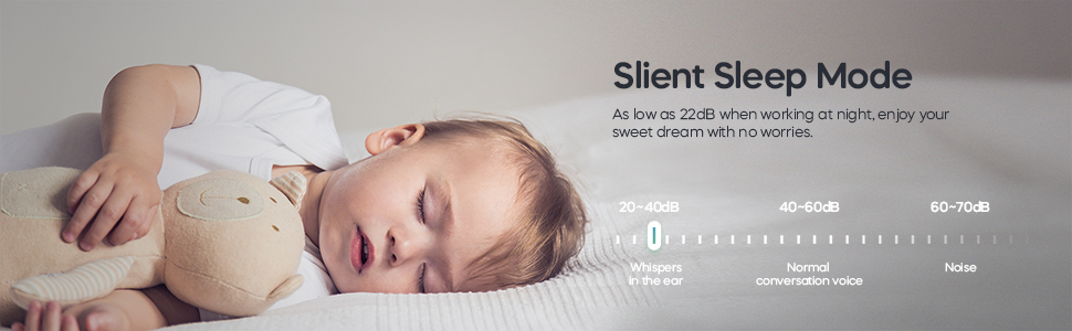 slient sleep mode, night mode, no noise